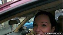 Female driver Natali Blue railed in the cab for cash porn videos
