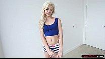 Skinny blonde stepsis Elsa Jean smashed by big ...