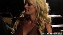 Horny blonde glamour MILF fucked hard porn videos