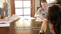 as aventuras do jake estudando na casa da amiga