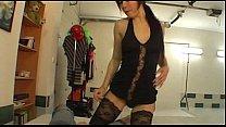 Tempting brunette doing sexy lapdance