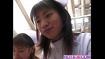 Saki and other nurse suck same patient cock porn videos