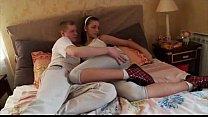 Сын трахает свою мать жестко в жопу
