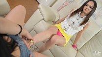 Anina Silk and Taylor Sands Lesbian foot fetish...