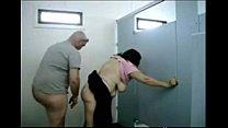 OLDIES enjoy sex at bathroom - HORNY OLDIES porn videos