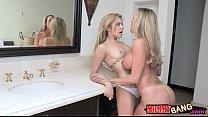 Brandi Love and Lia Lor share hard dick and fuc...