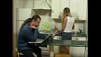 BritishTeen Daughter seduce father in Kitchen f...