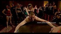 Stunning dominatrix makes her slave lick her sh...