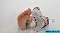 Blond feet massage thumbnail