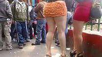 naranja Minifalda