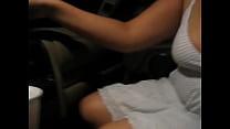 [Girls in Stock] Boobs in the car