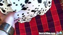 Busty Ellen Spandex Pov Blowjob and Facial