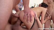 NoRestForTheAss, Lina Arian first DP with gapes...