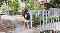 Latina teenager spunked