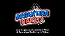Round Ass Latina Playing With Tape And Masturba...