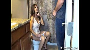 Mommy pissed after she jerk his son. handjob