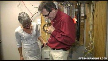 Granny Jerking An Old Man | Video Make Love