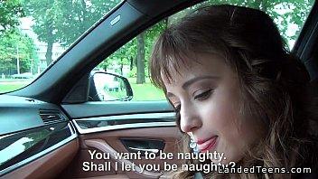 Guy anal fucks beautiful teen hitchhiker in his car