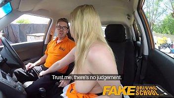 Fake driving school posh freaky redhead with ginger bush 1