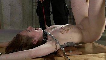 Leila rides the bondage bench pt. 2