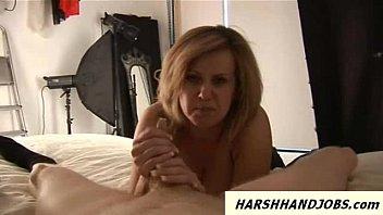 Tori baynes gives furious handjob and hits it hard