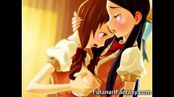 キレイで柔らかそうなおっぱいがエロい巨乳美少女のレズアニメ   の画像