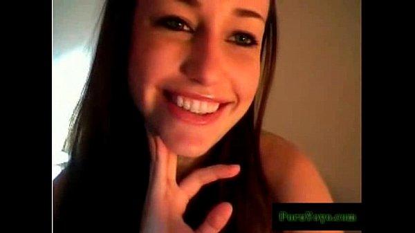 Sexy brunette webcam flashing.