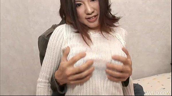 Cutie Momoka Amai on the bed with her horny boyfriend
