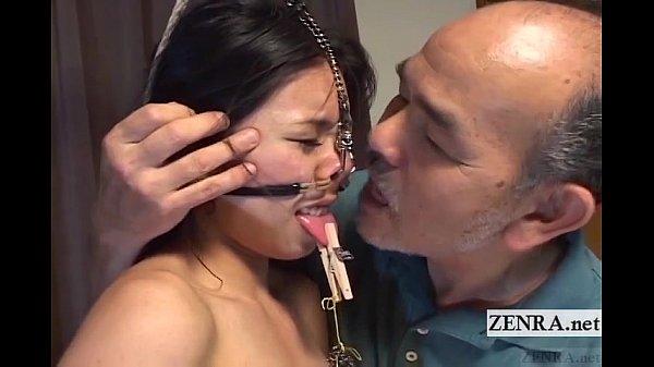 【SM調教】緊縛され鼻フックに舌も乳首もクリップ責め