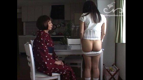 【神田つばき】ドS女主人がドジっこデカ尻家政婦メイドをケツ丸出しの格好にさせてスパンキングでお仕置き