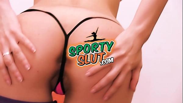 Busty Perfect Round Ass Sporty Slut Has Big Cameltoe! Slut!