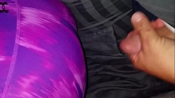 cum on sleeping exwife's yoga pants ass