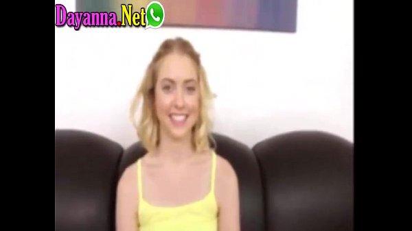 Rubia chilena en casting es perforada duro por vergon teen de colegio haciendo su primer anal