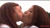 2 Schoolgirls Kissing P...