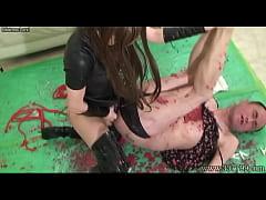 Japanese Mistress LUM Fucking Slave with Strapo...