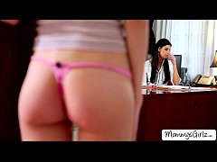 Skanky Hannah tempts her mom India  into a lesb...