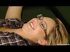Sexy student Andrea gets sensual double ticklin...