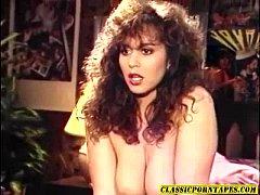 Sexy 80's porn chick kinky 3some