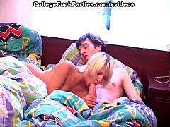 Nude college girl giving head and getting hot p...