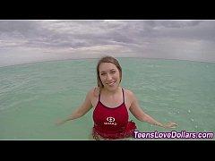 Teen lifeguard jizz cash