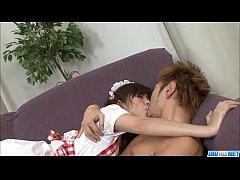 Moe Yoshikawa enjoys dick in her throat for lon...