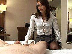 Jessica Pressley gives a harsh handjob