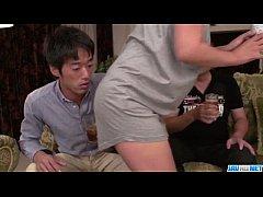 Strong Asian gangbang sex scenes along Ryoko Mu...