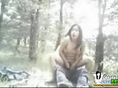 cogiendo a la mitad del bosque de chapultepec j...
