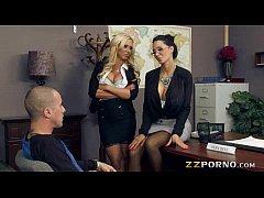 Busty teachers Amy Anderssen and Nikki Benz fuc...