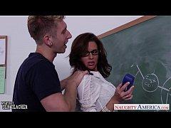 Stockinged sex teacher Veronica Avluv fuck in c...