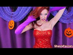 Shanda Fay as Jessica Rabbit for Slutty Hallowe...