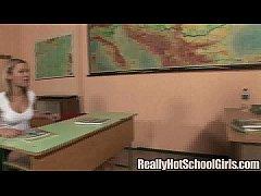 Schoolgirl fucks her teacher in class and gets ...
