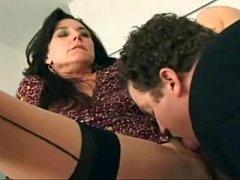Brunette MILF Karen Kougar Fucks Younger Man