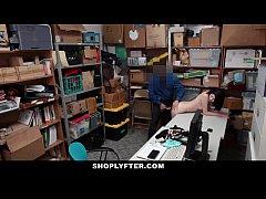 Shoplyfter - Pale Skinny Teen Banned & Fucked F...